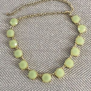 Gold & Green Stone Necklace
